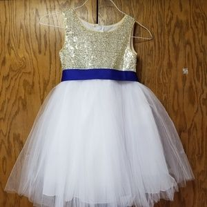 Other - Flower girl dresses gold with blue sash